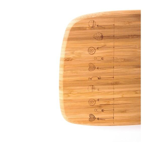Bambusové krájecí prkénko Bambum Tempo, 39x22 cm