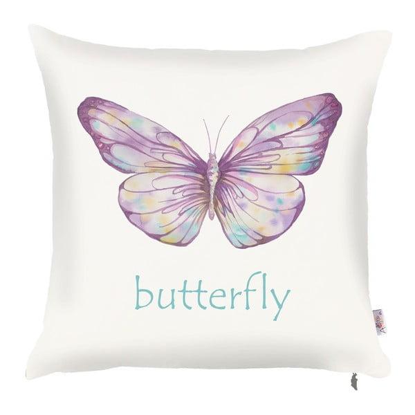 Poszewka na poduszkę Apolena Violet Butterfly, 43x43 cm