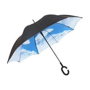 Umbrelă Sky, negru - albastru