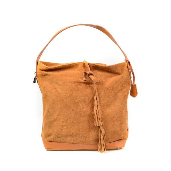 Kožená kabelka Stefie, velbloudí
