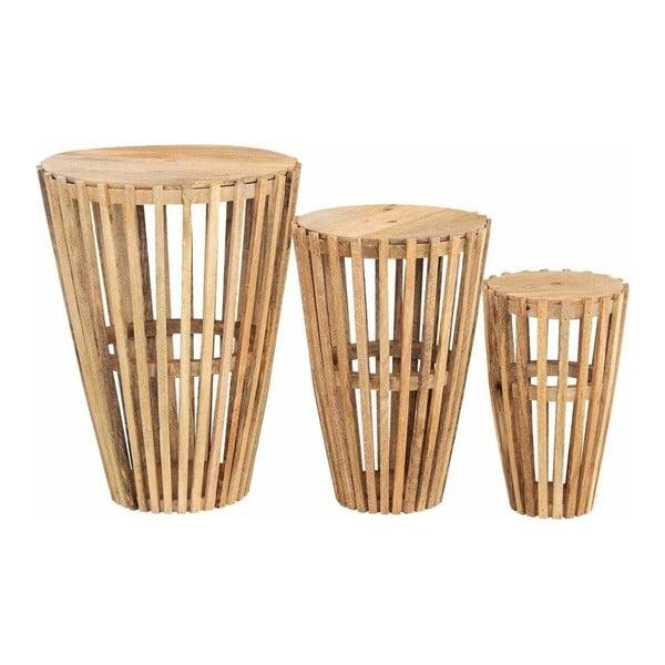 Zestaw 3 stolików z drewna mangowca Støraa Sitka