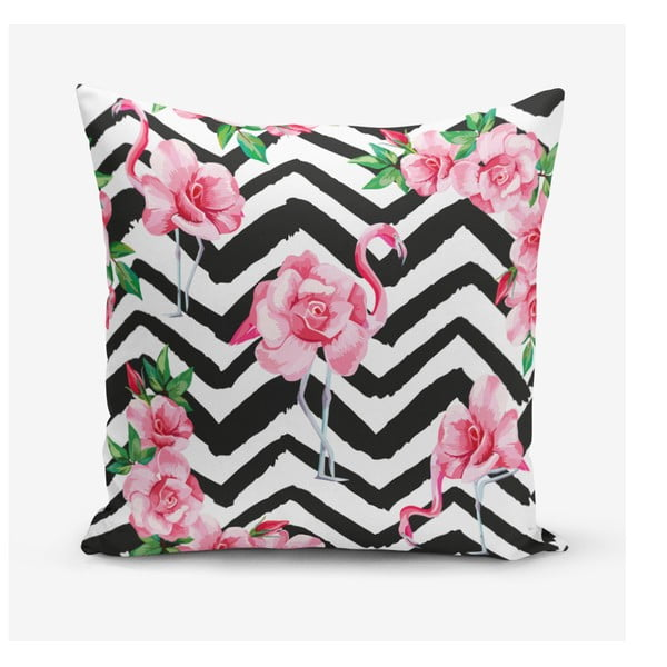 Față de pernă Minimalist Cushion Covers Stripped Flamingo, 45 x 45 cm