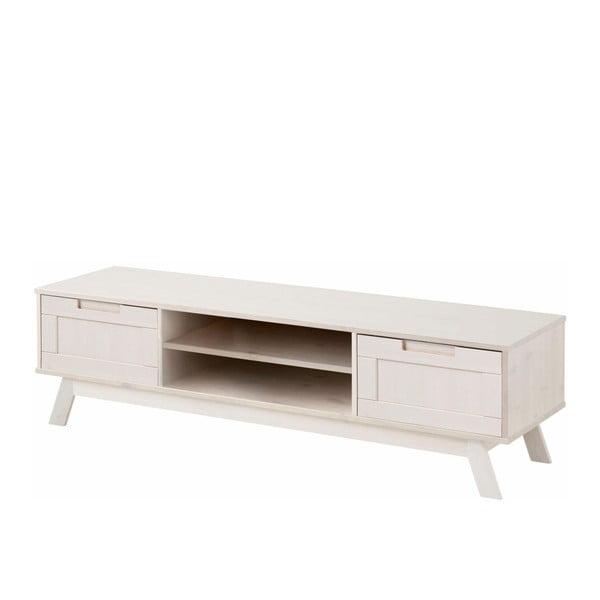 Biała niska szafka drewniana Støraa Olly
