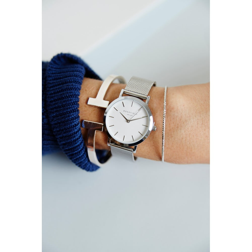 ... Stříbrnobílé dámské hodinky Rosefield The Mercer ... cadbe2b49e