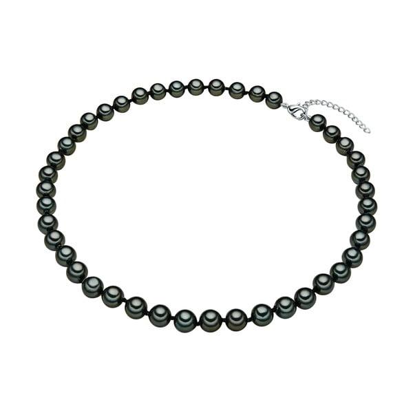 Perlový náhrdelník Muschel, zelené perly 8 mm, délka 40 cm