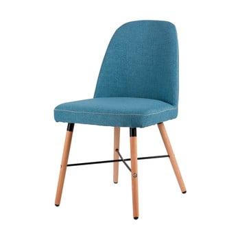Scaun cu baza din lemn de fag sømcasa Kalia, albastru