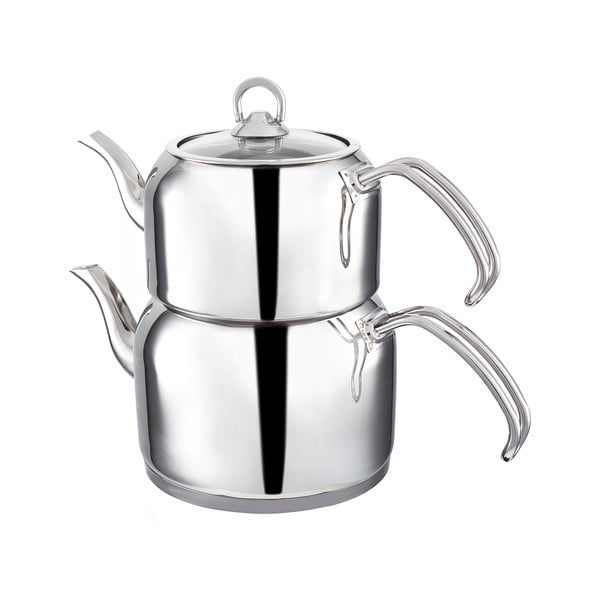 Podwójny nierdzewny dzbanek na herbatę Teafull