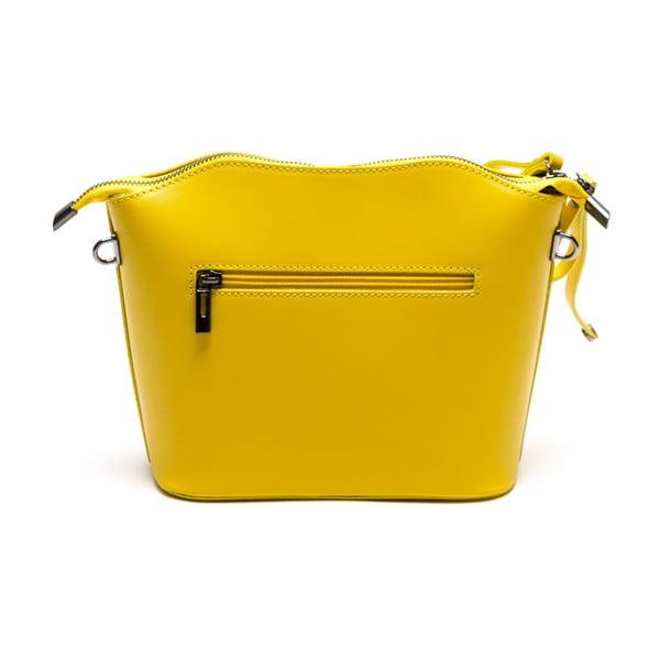 Kožená kabelka Gloria, žlutá