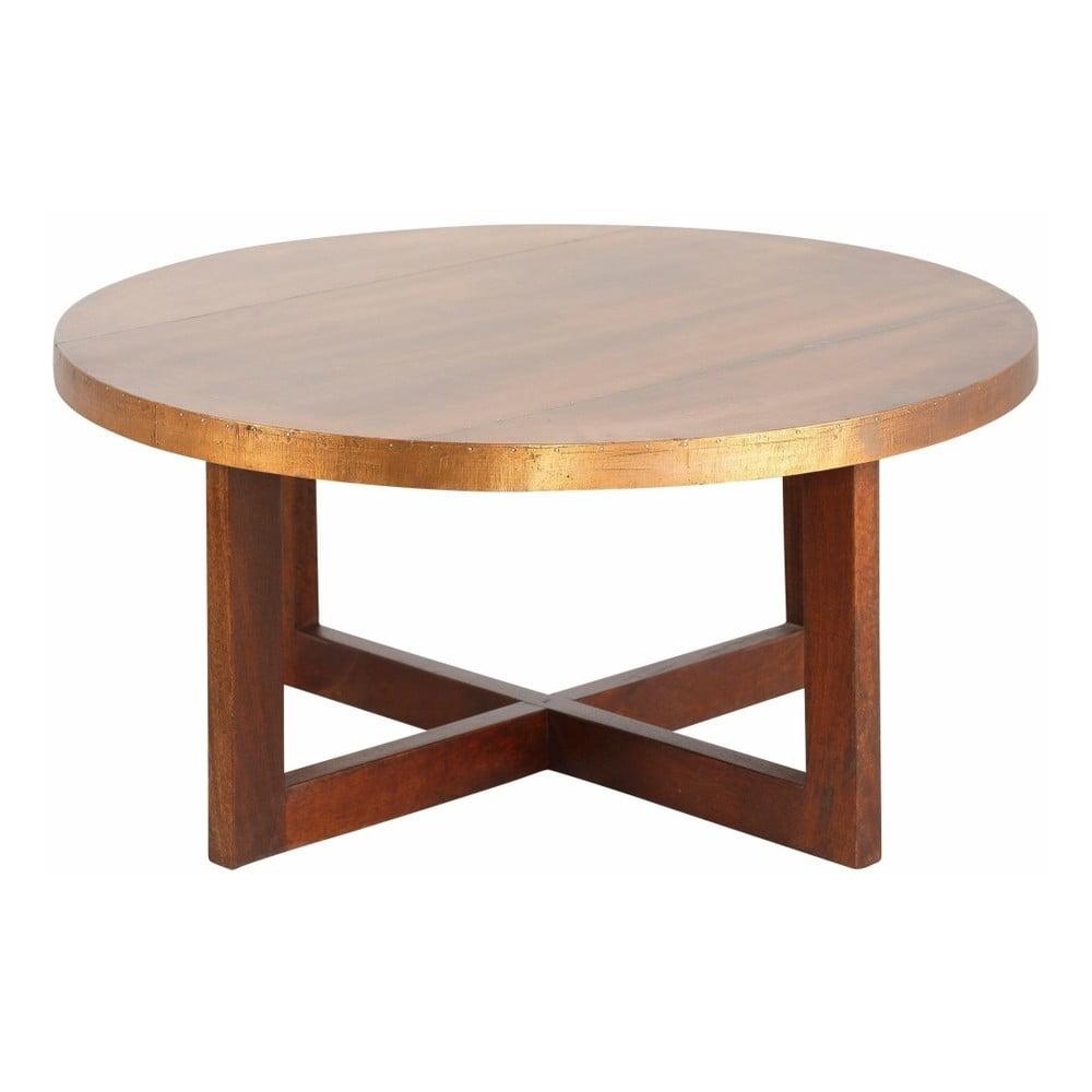Konferenční stolek z mangového dřeva Støraa Bindu, průměr 50 cm
