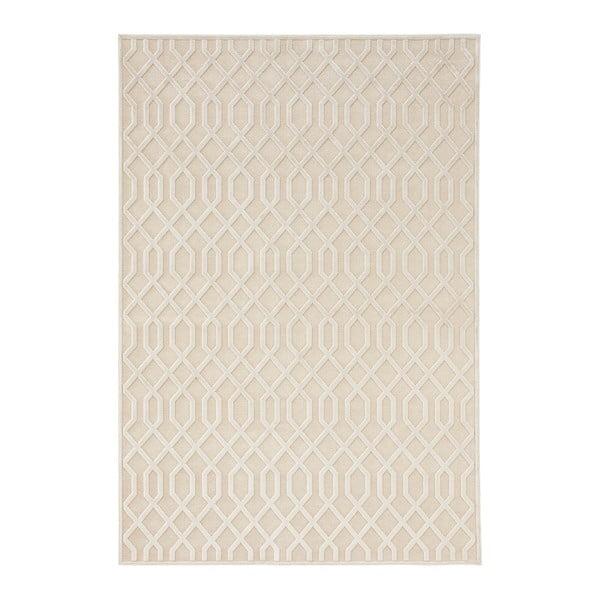 Krémový koberec z viskózy Mint Rugs Caine, 80 x 125 cm