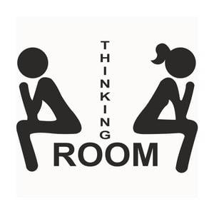 Autocolant pentru ușă Thinking Room