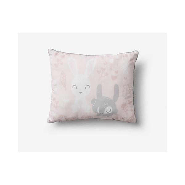 Bunnies rózsaszín gyerekpárna, 45 x 50 cm - Pinio