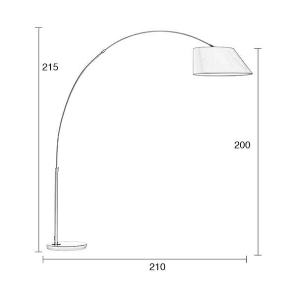Bílá stojací lampa Zuiver Arc