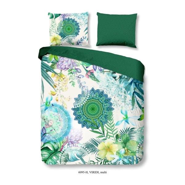 Lenjerie de pat din bumbac satinat Muller Textiels Viridi,200 x 240 cm