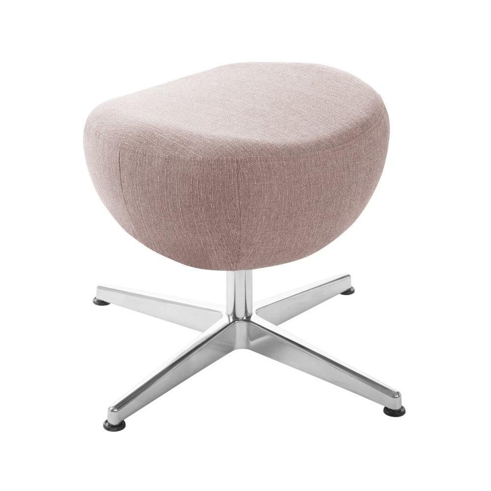 Světle růžová otočná stolička/podnožka My Pop Design Indiana