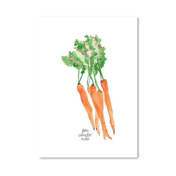 Autorský plakát Carrots, 30x42 cm