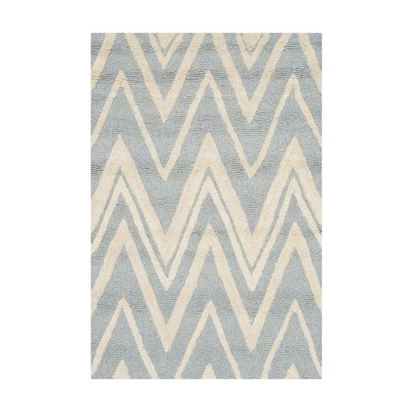Vlněný koberec Luca Blue, 91x152 cm