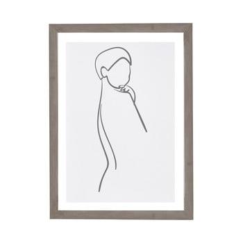 Tablou cu ramă pentru perete Surdic Woman Body, 30 x 40 cm
