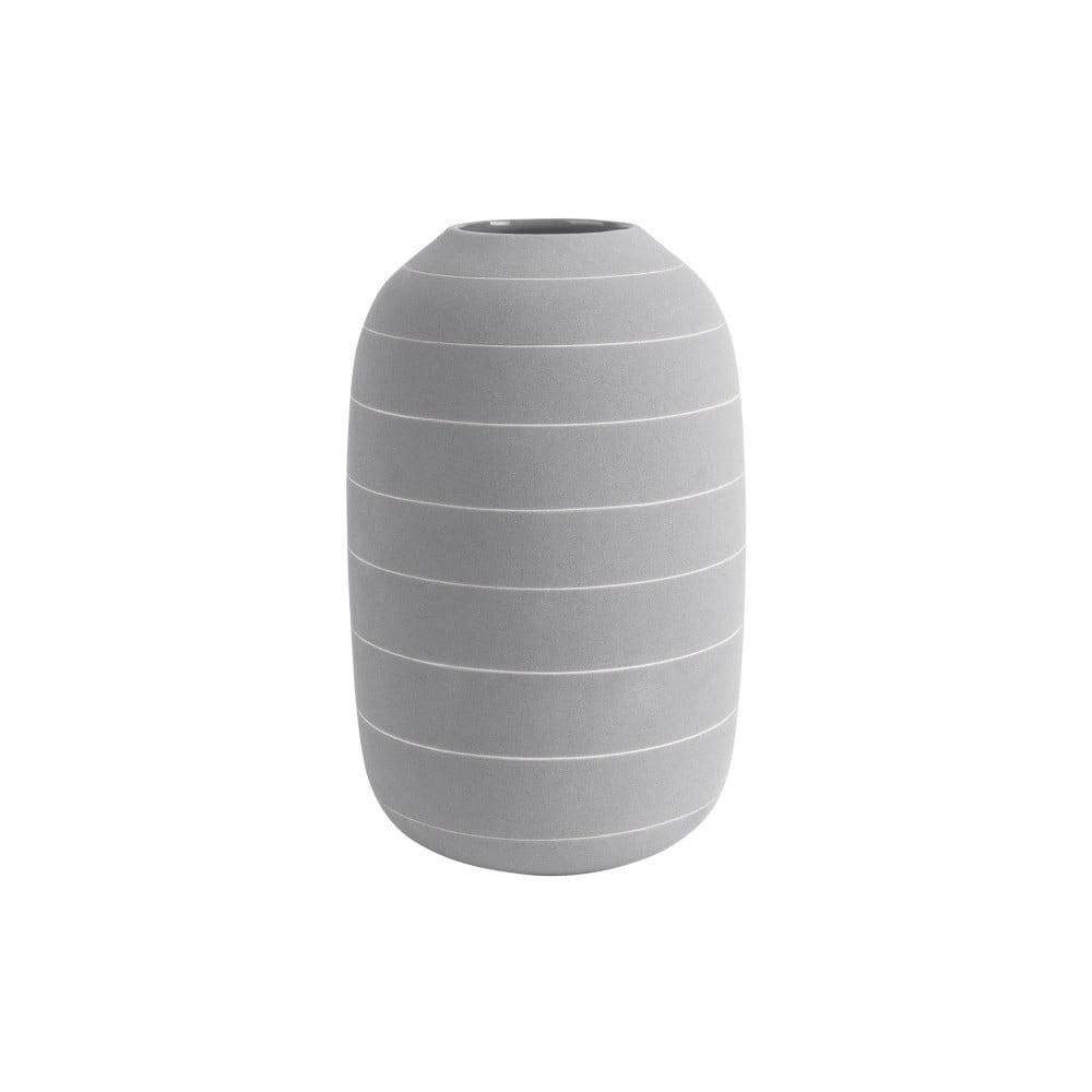 Světle šedá keramická váza PT LIVING Terra, ⌀16cm PT LIVING