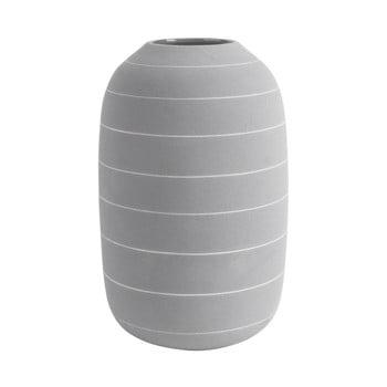 Vază din ceramică PT LIVING Terra, ⌀ 16 cm, gri deschis