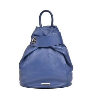 Modrý dámský kožený batoh Anna Luchini Lismo