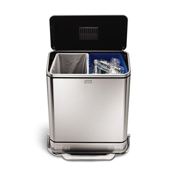 Odpadkový koš na tříděný odpad simplehuman, 38 l