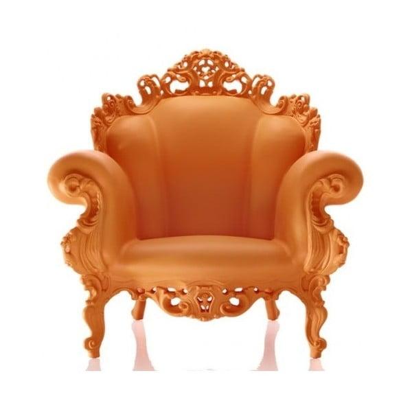 Pomarańczowy fotel Magis Proust