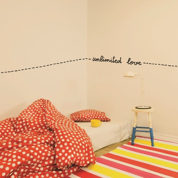 Samolepka Unlimited Love, 28x31 cm