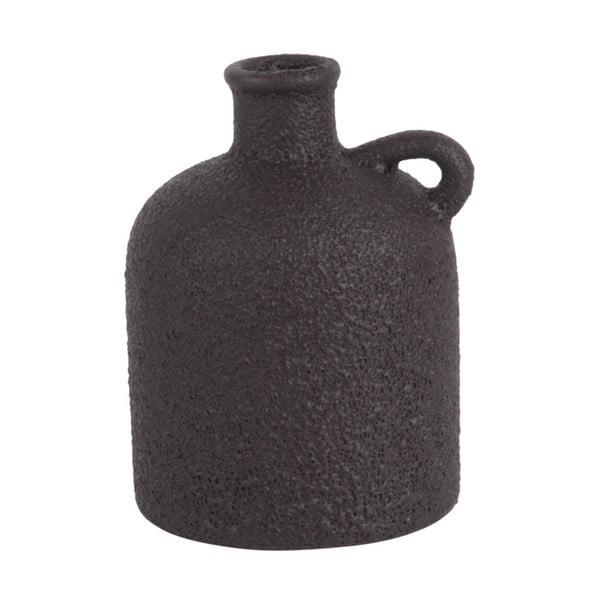 Burly fekete kerámiaváza, magasság 17cm - PT LIVING