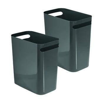Coș de gunoi iDesign Una, 13,9l, gri închis