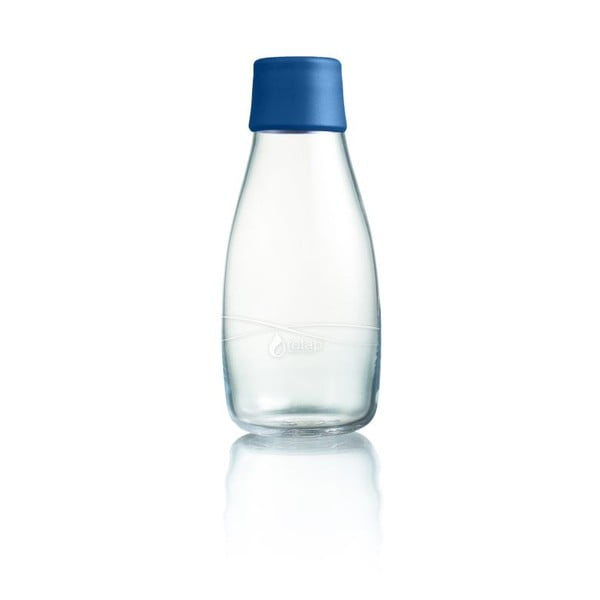 Tmavěmodrá skleněná lahev ReTap s doživotní zárukou, 300ml