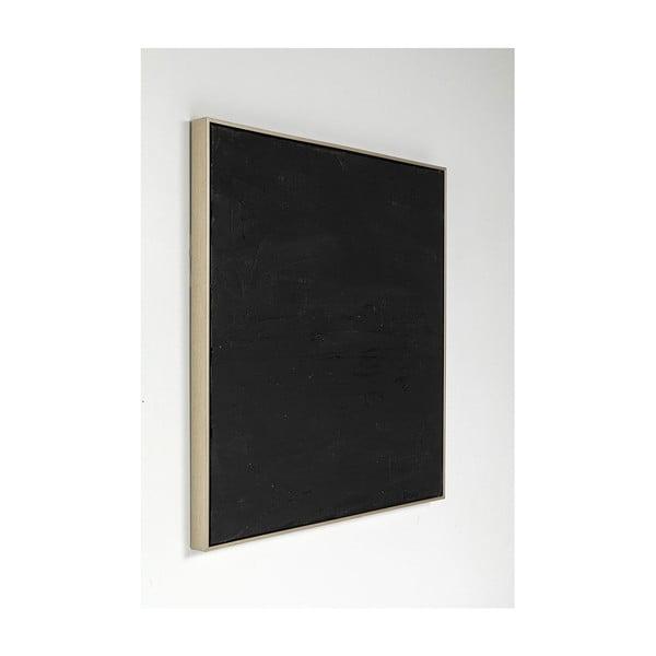 Pictură în ulei Kare Design Abstract Deep Black, 80 x 80 cm