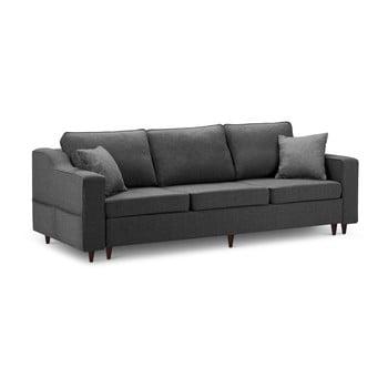 Canapea extensibilă cu 3 locuri și spațiu de depozitare Mazzini Sofas Narcisse, gri antracit de la Mazzini Sofas