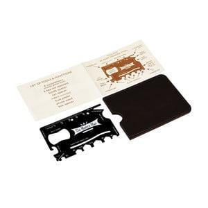 Multifunkční nástroj ve velikosti kreditní karty s koženkovým pouzdrem Rex London Modern Man