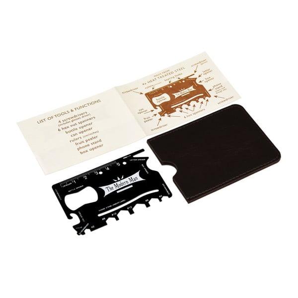 Modern Man kártya méretű multifunkciós eszköz, műbőr tokban - Rex London