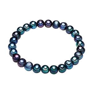 Modrý perlový náramek The Pacific Pearl Company Chakra Pearls Gloss, délka 17 cm