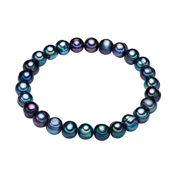 Modrý perlový náramek Chakra Pearls, 19 cm