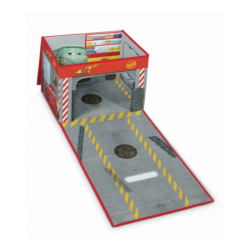 Rozkládací úložný box s hracím domečkem Domopak Cars