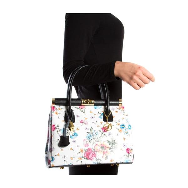 Kožená kabelka Carla Ferreri 901, květinovaná