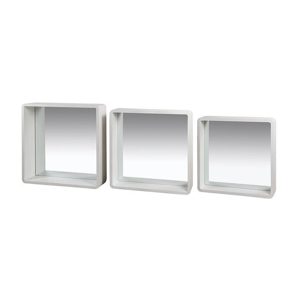 Sada 3 nástěnných zrcadel s rámem ze dřeva paulownia Santiago Pons Lilian