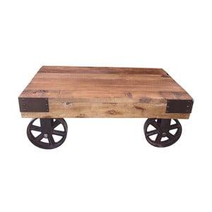 Konferenční stolek na kolečkách Antic Line Salon, 76x50 cm