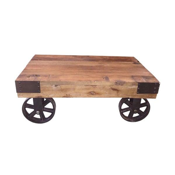 Metalowy stolik na kółkach Antic Line Salon, 76x50 cm