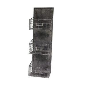 Polička se třemi košíky Antic Line Industry, 74 cm