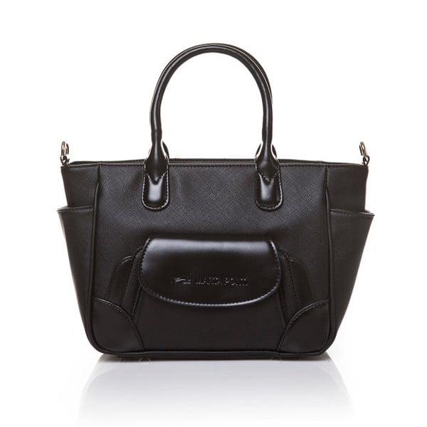 Kožená kabelka do ruky Marta Ponti Pocket Deux, černá