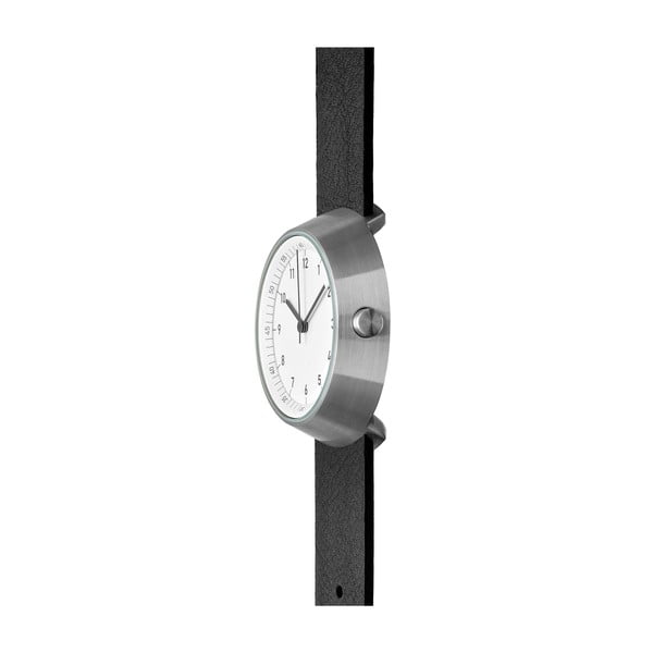 Hodinky White Fuji Black Leather, 43 mm