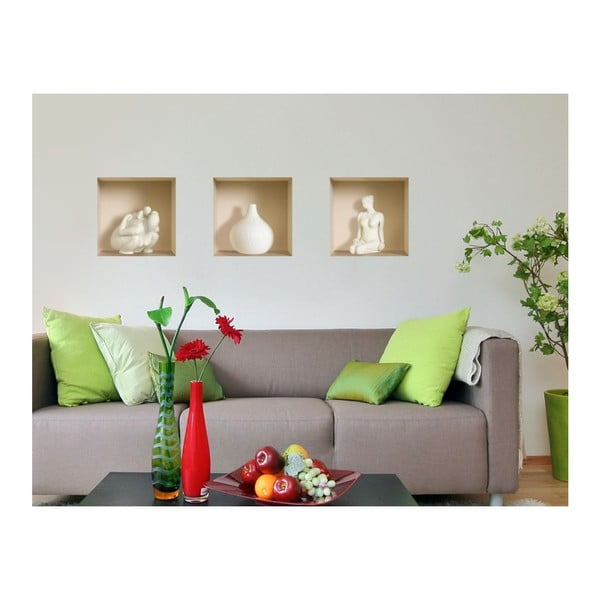 3D samolepky na zeď Nisha Sculptures