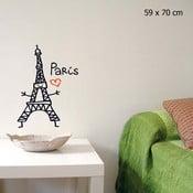 Samolepka Love Paris 59x70 cm