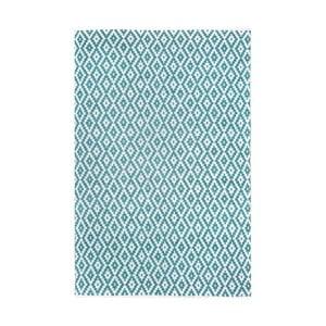 Tyrkysovo-bílý oboustranný koberec vhodný i do exteriéru Green Decore Marizco, 90 x 150 cm