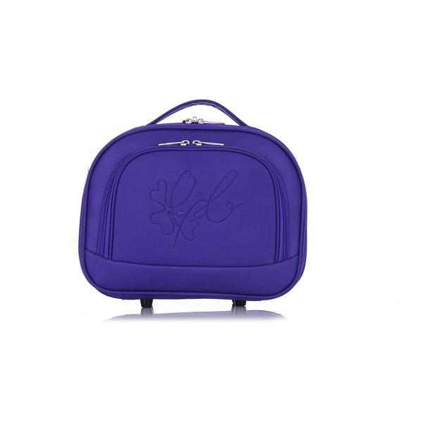Fialovoružový kozmetický kufrík LPB Anna, 10,3 l