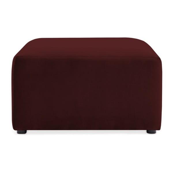 Vínově červená dvoumístná modulová pohovka s podnožkou Vivonita Velvet Cube